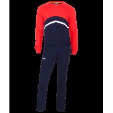Тренировочный костюм детский JCS-4201-921, хлопок, темно-синий/красный/белый
