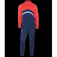 Костюм тренировочный JPS-4301-921, полиэстер, темно-синий/красный/белый, детский