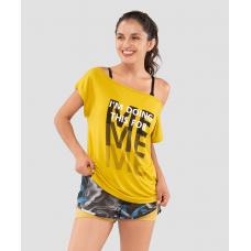 Женская футболка Ease Off mustard FA-WT-0202-MSD, горчичный
