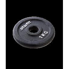 Диск чугунный BB-204 1 кг, d=26 мм, черный