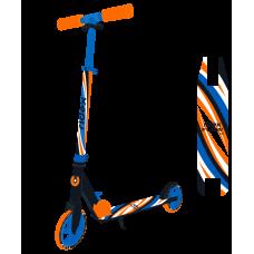 Самокат 2-колесный Flow 125 мм, синий/оранжевый