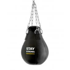 Груша боксерская Е522, кожзам, 12 кг, черный