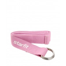 Ремень для йоги Core YB-100 186 см, хлопок, розовый пастель