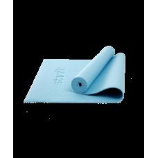 Коврик для йоги и фитнеса Core FM-101 173x61, PVC, синий пастель, 0,5 см