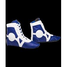 Обувь для самбо SM-0102, кожа, синий