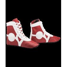 Обувь для самбо SM-0102, кожа, красный