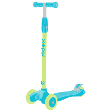 Самокат 3-колесный Kiko, 120/80 мм, голубой/зеленый