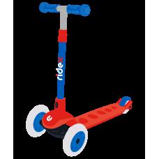 Самокат 3-колесный Hero, 120/80 мм, красный/синий