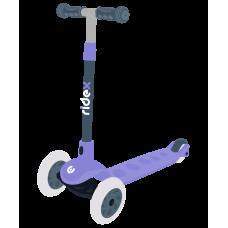 Самокат 3-колесный Hero, 120/80 мм, фиолетовый/серый