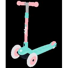Самокат 3-колесный Hero, 120/80 мм, мятный/розовый