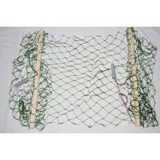 Гамак одноместный подростковый  плетённый. Материал сетки - полиамид. Материал планки - берёза. Шири
