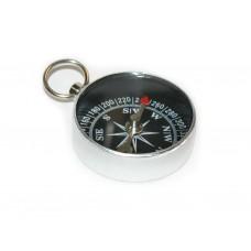 Компас металлический корпус,  чёрный циферблат, с кольцом. :(G34 ST13):