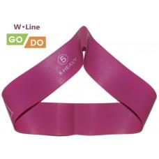 Эспандер-петля GO DO W-Line (5). Цвет: фуксия. Длина в сложенном виде 30,5 см. Ширина 5 см. Толщина