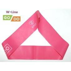 Эспандер-петля GO DO W-Line (2). Цвет: розовый. Длина в сложенном виде 30,5 см. Ширина 5 см. Толщина