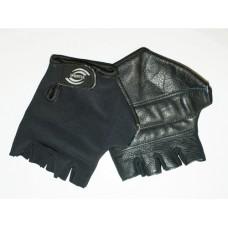 Перчатки велосипедные без пальцев, материал кожа, лайкра. Размер L.