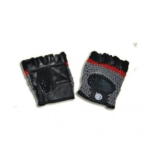 Перчатки т/а без пальцев, материал: кожа, сетка. Размер S.