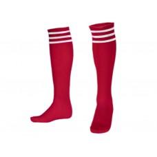 Гетры футбольные. Цвет красный. Размер 39-42: ВВ
