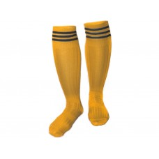 Гетры футбольные. Цвет: жёлтый. Размер 38-39: 9001
