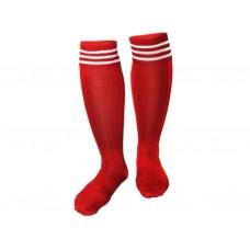 Гетры футбольные. Цвет: красный. Размер 38-39: 9001