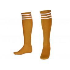 Гетры футбольные. Цвет. жёлтый. Размер 39-42. :(BB):