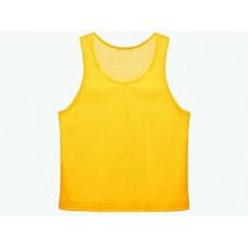 Манишка сетчатая. Цвет: жёлтый. Размер М. Предназначена для отличия полевых игроков разных команд др