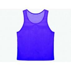 Манишка сетчатая. Цвет: синий. Размер М. Предназначена для отличия полевых игроков разных команд дру