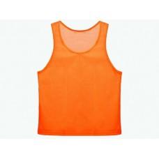 Манишка сетчатая. Цвет: оранжевый. Размер L. Предназначена для отличия полевых игроков разных команд