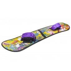Сноуборд детский пластик с облегченным креплением