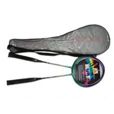 Набор бадминтон 2 ракетки в прозрачном чехле. Т-образное соединение стержня и обода.. Материал: стал