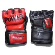 Перчатки ММА цвет. Красный, размер M, PVC. :ZTM-004-K-M: