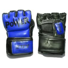 Перчатки ММА цвет. Синий, размер L, PVC. :ZTM-004-C-L: