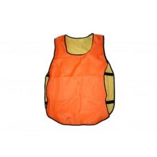 Манишка двухсторонняя подрост. р.36-40 (оранжево-желтая)состав 100% полиэстер