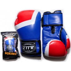 Перчатки бокс 10oz, 100% кожзам, многослойный наполнитель из вспененного полиуретана.ZTQ-201-С Цвет