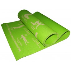 Коврик для йоги. Размер 173 см х 61 см х 0,6 см. Цвет зелёный. RW-6-З