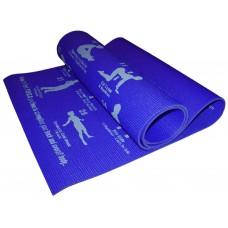 Коврик для йоги. Цвет синий. RW-6-С