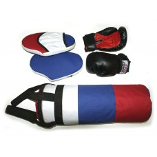 Набор бокс (груша  цилиндр +перчатки+2лапы) :(5):