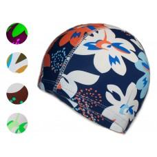 Шапочка для плавания тканевая. Безразмерная, взрослая. Вставка эргономично придает форму шапочке. Со