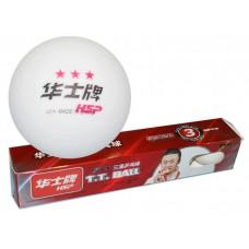 Шарики для настольного тенниса 3* HSP. Размер. 40 мм. Материал: ABS пластик. Количество штук в упако