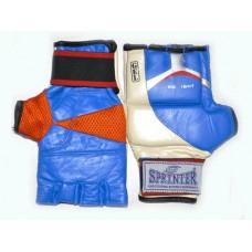 Перчатки для рукопашного боя (кожа). гель. Размер L.