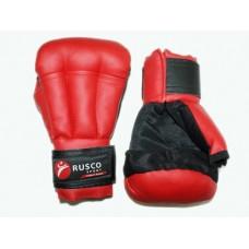 Перчатки для рукопашного боя RUSCOsport, к/з,  красные. 12 Oz :(к-12):