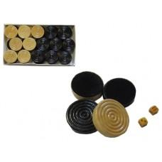 Набор игровых  фишек и кубиков. Материал: фишки - дерево, ткань- кубики - пластик. :(7800):