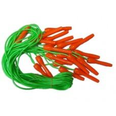 Скакалка (шнур резина, ручки пластик) 2,5м Продажа только упаковкой 10 шт :(122Н):