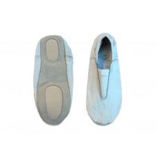 Чешки гимнастические кожаные, цвет белый, р-р 34.