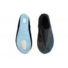 Чешки гимнастические кожаные, цвет чёрный, р-р 37.