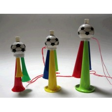 Дудка для футбольного болельщика трёхрожковая. Материал: пластмасса. Длина 22 см. :(322CM):