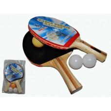 Набор для н/т (2 ракетки,3 шарика в слюде). :(SН-008А):