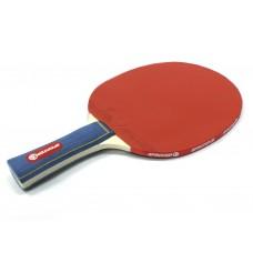 Ракетка Ping Pong для начинающих игроков. Однослойная без губки, жесткая. Форма ручки: коническая :(