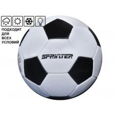 Мяч футбольный SPRINTER. Количество панелей 32 шт. Размер 5. Материал покрышки: резина. Материал кам