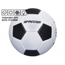 Мяч футбольный SPRINTER. Количество панелей 32 шт. Размер 5. Материал покрышки: штампованная резина.