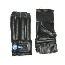 Шингарды RuscoSport L черные (изготовлены из качественной искусственной кожи)